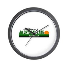 Its Better in Crystal Lake, M Wall Clock