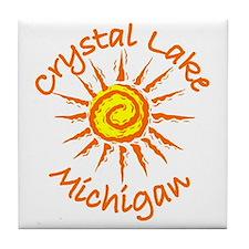 Crystal Lake, Michigan Tile Coaster