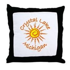 Crystal Lake, Michigan Throw Pillow