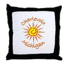 Charlevoix, Michigan Throw Pillow