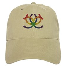 GAY PRIDE RAINBOW-TRIBAL Baseball Cap