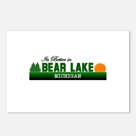 Its Better in Bear Lake, Mich Postcards (Package o