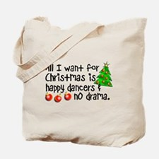 Dance Teacher Christmas Tote Bag
