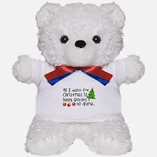 Dance Teacher Christmas Teddy Bear