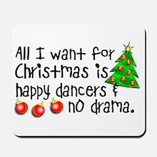 Dance Teacher Christmas Mousepad