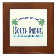 South Padre Happy Place - Framed Tile