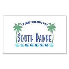 South Padre Happy Place - Rectangle Decal