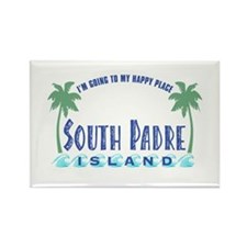 South Padre Happy Place - Rectangle Magnet