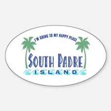South Padre Happy Place - Oval Decal