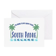 South Padre Happy Place - Greeting Card