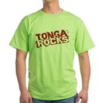 Tonga Rocks Green T-Shirt