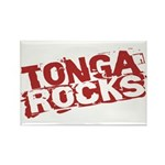 Tonga Rocks Rectangle Magnet