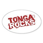 Tonga Rocks Oval Sticker