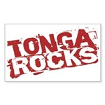 Tonga Rocks Rectangle Sticker