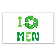 I Recycle Men Rectangle Decal