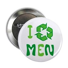 """I Recycle Men 2.25"""" Button"""