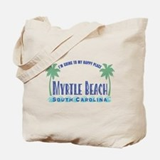 Myrtle Beach Happy Place - Tote or Beach Bag