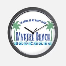 Myrtle Beach Happy Place - Wall Clock