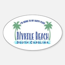 Myrtle Beach Happy Place - Oval Decal