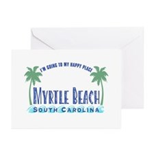 Myrtle Beach Happy Place - Greeting Cards (Pk of 2