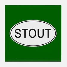 Stout Euro Oval green Tile Coaster