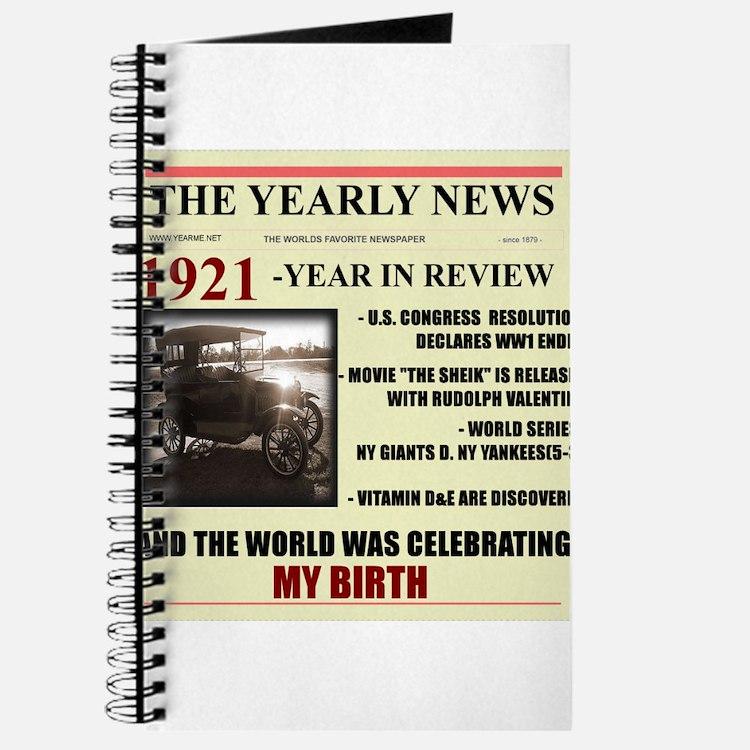 born in 1921 birthday gift Journal