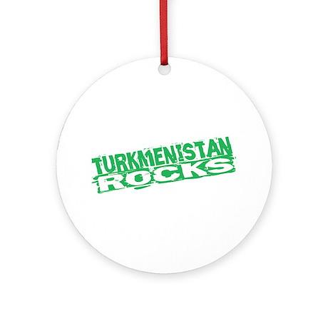 Turkmenistan Rocks Ornament (Round)