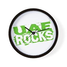 UAE Rocks Wall Clock