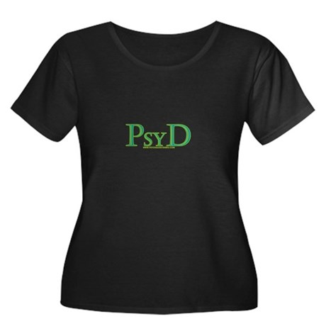 PsyD Women's Plus Size Scoop Neck Dark T-Shirt