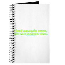 I Had Amnesia Once Journal