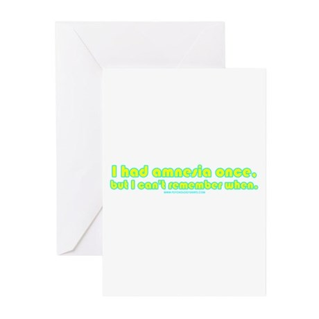 I Had Amnesia Once Greeting Cards (Pk of 10)