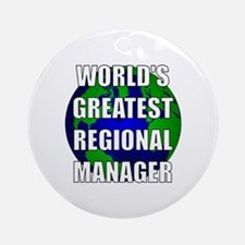 World's Greatest Regional Man Ornament (Round)