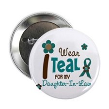 """I Wear Teal For My Daughter-In-Law 12 2.25"""" Button"""