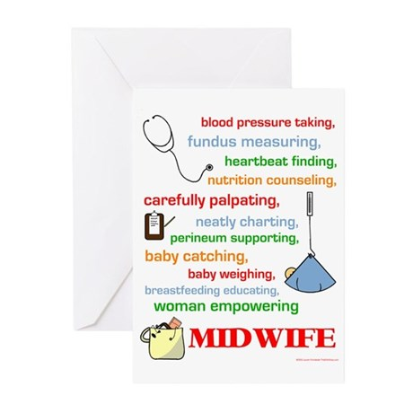 Midwife/ Job Description Greeting Cards (Package o