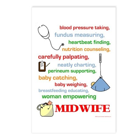 Midwife/ Job Description Postcards (Package of 8)