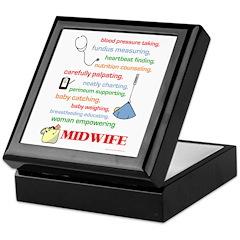 Midwife/ Job Description Keepsake Box