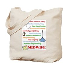 Midwife/ Job Description Tote Bag