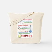Midwife/ Job Description Tote Bag