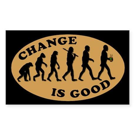 CHANGE IS GOOD BARISTA Tip Jar Sticker