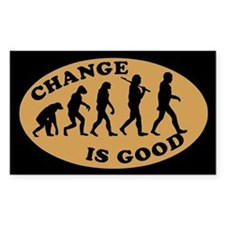 CHANGE IS GOOD Coffee Tip Jar Rectangle Decal
