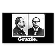 Al Capone Tipjar Sticker GRAZIE Decal