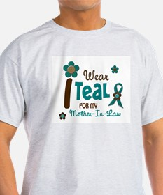 I Wear Teal For My Mother-In-Law 12 T-Shirt