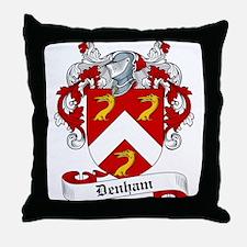 Denham Family Crest Throw Pillow
