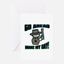 Go Ahead, Make My Day! Greeting Cards (Pk of 10)