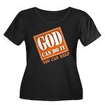 God Improvement Women's Plus Size Scoop Neck Dark