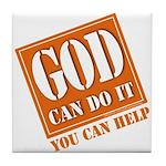 God Improvement Tile Coaster