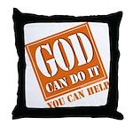 God Improvement Throw Pillow