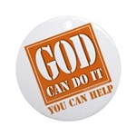 God Improvement Ornament (Round)