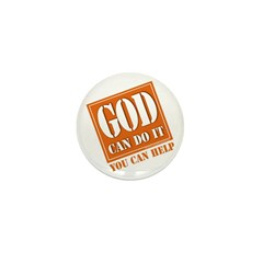 God Improvement Mini Button (10 pack)