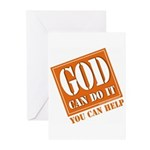 God Improvement Greeting Cards (Pk of 10)